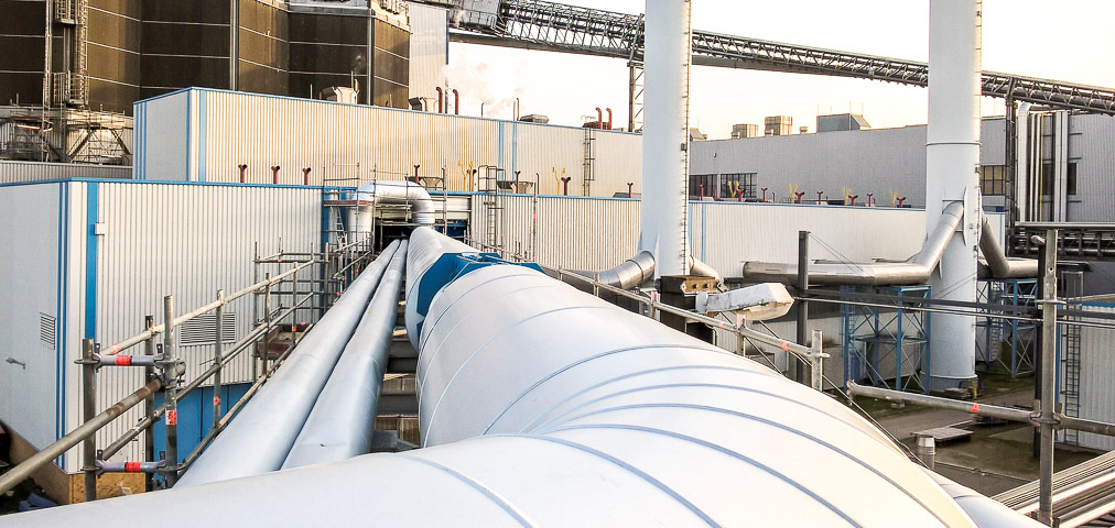 Pipeline paper mill plant renovation